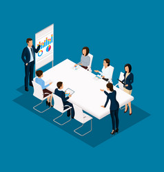 isometric 3d business conception vector image