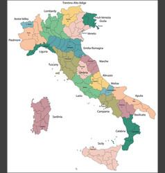 italy is a unitary parliamentary republic in vector image