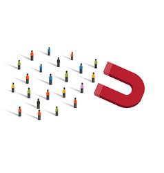 Lead generation acquire new customer generate vector