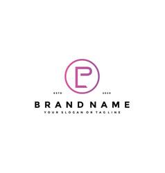 Letter lp logo design vector
