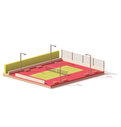 low poly tennis court vector image