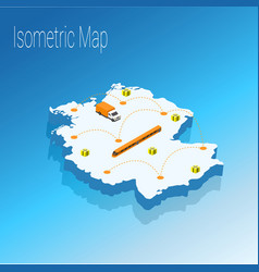 map germany isometric concept vector image