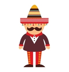 mexican man character icon vector image