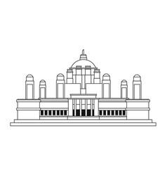 Monument indian construction landmark vector