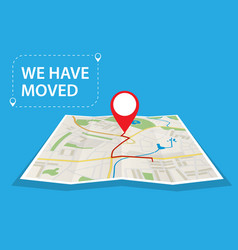 Moving concept changing address vector