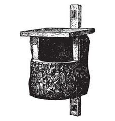 Nesting box vintage vector