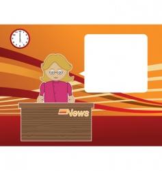 news reader vector image