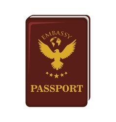 Passport international identification vector