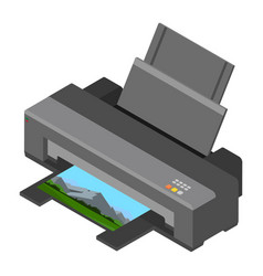 printer print photo vector image
