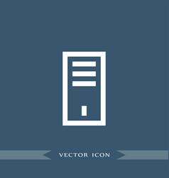 processor icon simple vector image