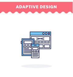 responsive web design line icon flat vector image