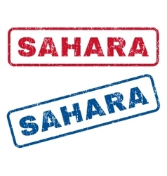 Sahara Rubber Stamps vector image