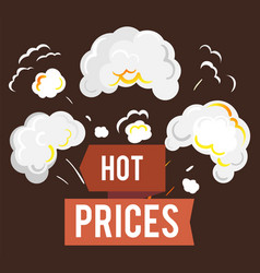 sale and hot price steaming shopping discount vector image
