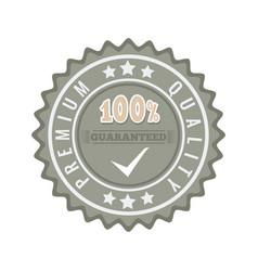 Satisfaction guaranteed seal stamp badge vector