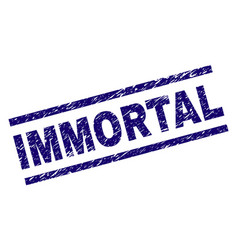 Scratched textured immortal stamp seal vector