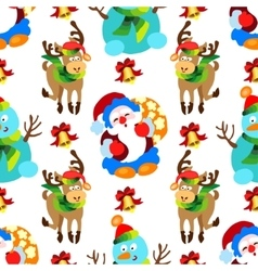 seamless pattern with Christmas decorations vector image