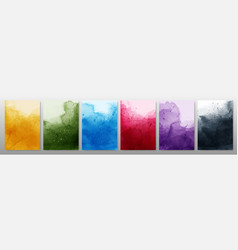 Set bright colorful watercolor background vector