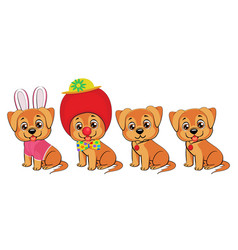 set of little dogs vector image