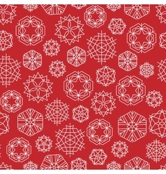 snowflake winter Christmas seamless red vector image