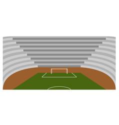 soccer field inside a stadium vector image