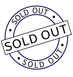 sold out round stamp vector image