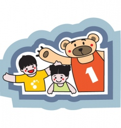 sport bear vector image