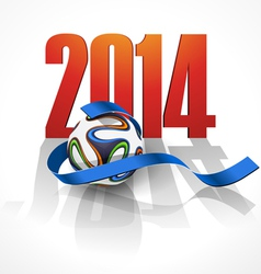 Sports background with a soccer ball vector
