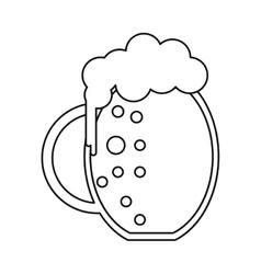 st patrick day jar beer foam cold outline vector image