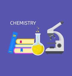 Study chemistry concept background flat style vector