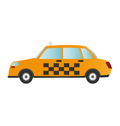 Taxi or cab sideview icon image vector