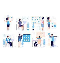 time management business people managed tasks vector image