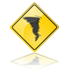 tornado warning sign vector image