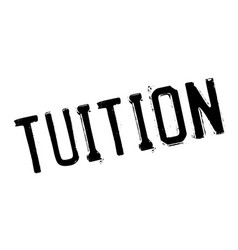 Tuition rubber stamp vector
