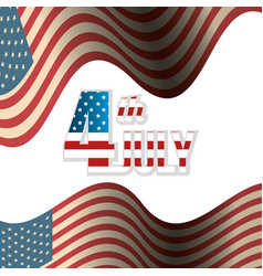 Usa independence day with flag vector