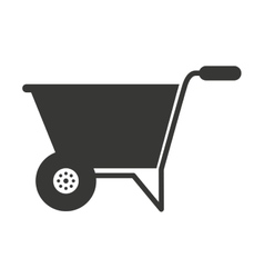 Wheelbarrow isolated icon design vector