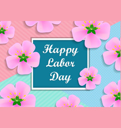 With text - happy labor day vector