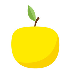 yellow apple icon flat style vector image