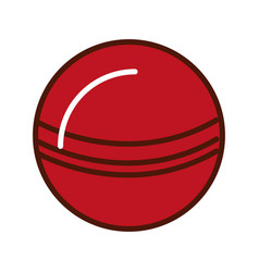 Brightly red ball cartoon vector