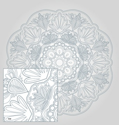 floral and lace vector image vector image