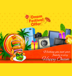 kathakali dancer on advertisement and promotion vector image vector image