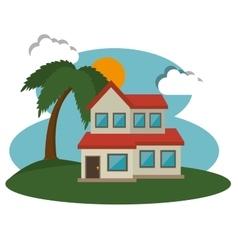 Mansion house design vector