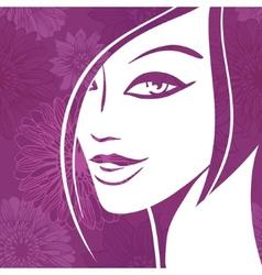 Pretty Woman Portrait vector image