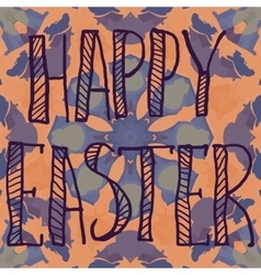 PrintHappy Easter Letters Print on Ornamental vector image vector image