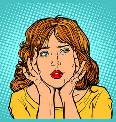 the woman has a headache vector image