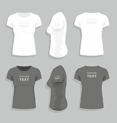 Womens t-shirt vector image