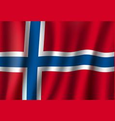 norway 3d flag background national symbol vector image