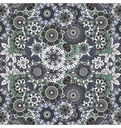 Ornate full frame background with flowers vector image vector image
