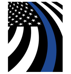 police support fag background vector image vector image