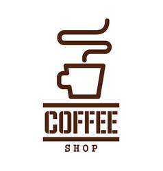 coffee drink label design with cup of espresso vector image vector image