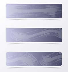 Gray banners with brush strokes vector image vector image